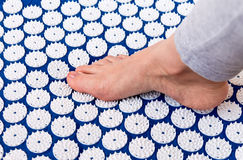 Treatment of foot. Royalty Free Stock Images
