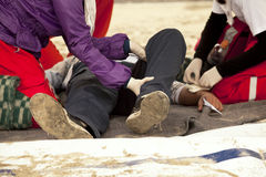 First aid training Stock Photography