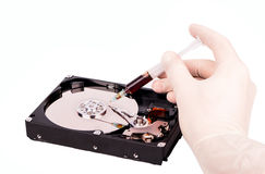 Treatment HDD Royalty Free Stock Photo