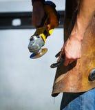 Treatment of horseshoe Stock Image