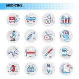 Treatment Hospital Doctors Clinic Medical Icon Set Royalty Free Stock Photos