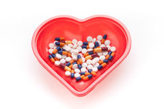 Treatment of medicines and pills Stock Photo