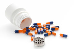 Treatment of medicines and pills Stock Photography