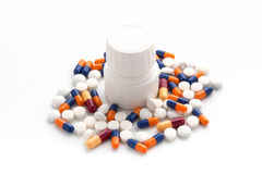 Treatment of medicines and pills Stock Image
