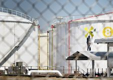 TREATMENT OF OIL REFINERY Stock Photography
