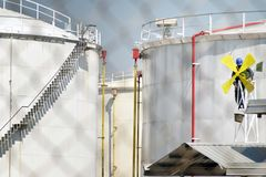 TREATMENT OF OIL REFINERY Royalty Free Stock Photo