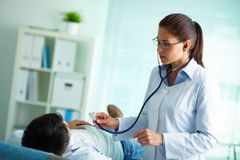 Treatment of patient Stock Photography