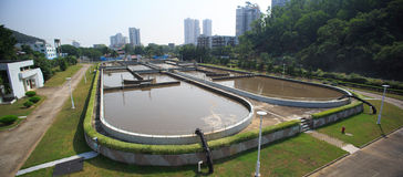 Treatment Plant. Sewage treatment plant factory in China Royalty Free Stock Image