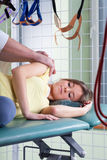Treatment of shoulder pain Stock Images