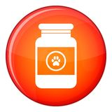 Treatment solution for animals icon, flat style Royalty Free Stock Image