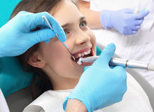 Treatment of tooth loss, the child to the dentist Royalty Free Stock Photos