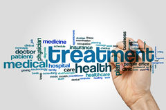 Treatment word cloud Royalty Free Stock Photo
