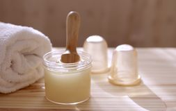 Accessories for spa procedures. Treatments at the spa Royalty Free Stock Images