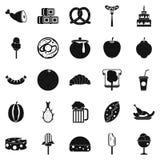 Treats icons set, simple style Royalty Free Stock Photos