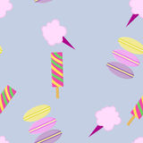 Treats for kids. Seamless pattern background. Stock Photos