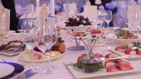 Treats for the wedding table. HD Treats for the wedding table stock footage