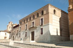 Treaty Houses. Tordesillas is a town in the province of Valladolid, Castile and Leon, Spain. Is well known because of Treaty of Tordesillas signed at Todesillas stock photo