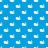 Treaty pattern vector seamless blue. Repeat for any use Royalty Free Stock Image
