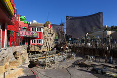Treaure Island construction in Las Vegas, December 10, 2013. Royalty Free Stock Image