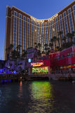 Treaure Island Hotel-Casino at night in Las Vegas, June 21, 2013 Royalty Free Stock Photo