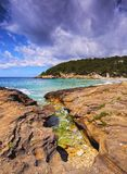 Trebaluger Bay on Minorca Stock Photography