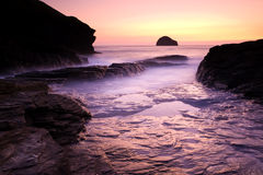 Trebarwith Stock Image