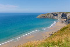 Trebarwith Strand Cornwall near Tintagel. Trebarwith Strand beach Cornwall near Tintagel England UK stock photography