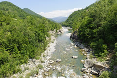 The Trebbia river at summer Stock Images