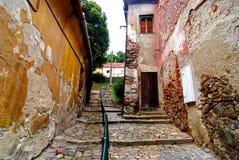 trebic犹太老四分之一的街道 库存照片