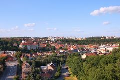 Trebic, republika czech zdjęcie stock
