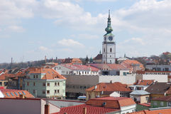 Trebic town cityscape Royalty Free Stock Image