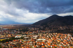Trebinje, Bosnia, top view. royalty free stock photo
