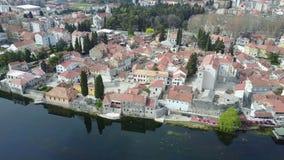 Trebinje iz zraka. View of the old town of Trebinje Royalty Free Stock Photography