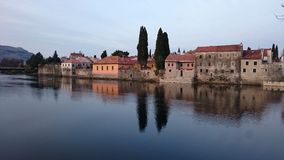Trebinje reflection. View of the old town of Trebinje in reflection Stock Photo