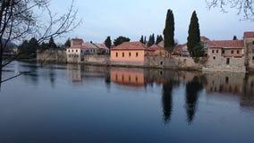 Trebinje. View of the old town of Trebinje before dawn Royalty Free Stock Photography