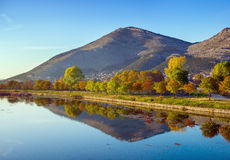 Trebisnjica河,波黑。 免版税库存照片