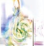 treble нот clef абстрактного искусства цифровой Стоковые Изображения