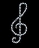 treble диаманта clef Стоковые Фотографии RF