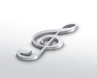 treble clef серебряный Стоковые Фото