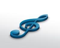 treble clef Стоковое Фото