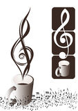 Treble clef. Shiny design treble clef with background Stock Photos