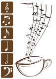 Treble clef. Shiny design treble clef with background Royalty Free Stock Image