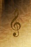 Treble clef royalty free stock photos