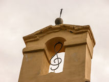 Treble clef. Architectural detail. Stock Photography