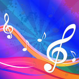 Treble Clef Background Means Artistic And Stock Photo