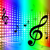 Treble Clef Background Means Artistic Melodies Royalty Free Stock Photo