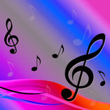 Treble Clef Background Means Melody Royalty Free Stock Photography