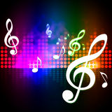 Treble Clef Background Means Music Frequency Display Stock Photos