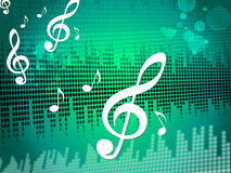 Treble Clef Background Means Sound Frequency Or Music Wave Royalty Free Stock Image