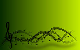 Treble clef background Stock Photos